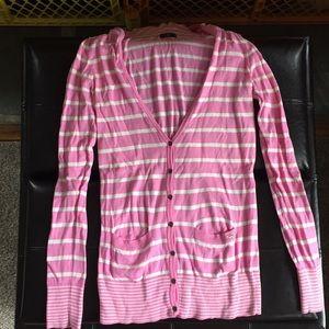 Victoria's Secret Pink Striped Cardigan Sweater